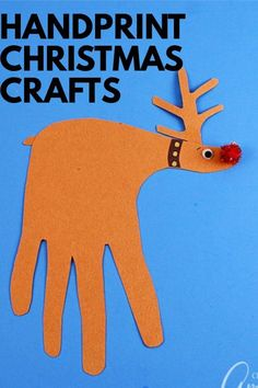 These Christmas handprint crafts include Santa Claus, Rudolph the red-nosed reindeer, a Christmas tree and even a winter themed wreath! #christmas #christmascrafts #handprintcrafts #kidscrafts #holidaycrafts #papercrafts #constructionpaper #diychristmas #craftsbyamanda Christmas Handprint Crafts, Christmas Crafts For Kids To Make, Craft Projects For Kids, Easy Crafts For Kids, Christmas Activities, Holiday Crafts, Fun Crafts, Craft Ideas, Project Ideas
