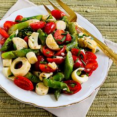 Asparagus Salad w/tomatoes, hearts of palm and chives - thank you Kalyn's Kitchen!
