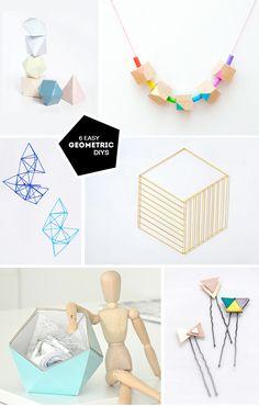 6 Easy Geometric DIYS via Love From Ginger