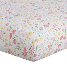 Liz Spring Garden Crib Sheet