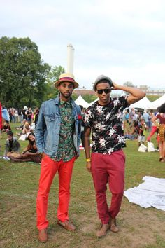 Brandon Gray and Yonathan Elias - Great Looks from the Afropunk Festival (Brooklyn, NYC 2014)