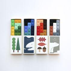 Pocket Crayon Block _ Season Set Toy Packaging, Food Packaging Design, Packaging Design Inspiration, Brand Packaging, Branding Design, Board Game Design, Print Layout, Arte Popular, Lego