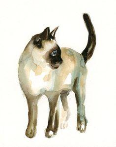 Siamese cat art