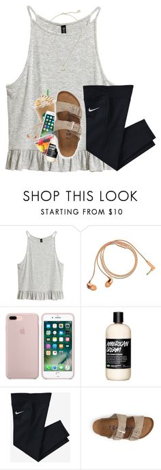 """day 1 // mmadsssummervacay2017"" by artsydoglovergabs ❤ liked on Polyvore featuring Happy Plugs, NIKE, Birkenstock, Kendra Scott and mmadsssummervacay2017"