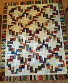 Waste not, want not.  Love those scrap quilts.