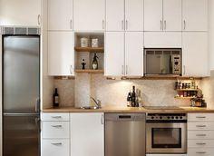 белая прямая кухня модерн