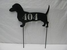 Dachshund Gift Address Sign Metal Custom Dog Yard by cabinhollow
