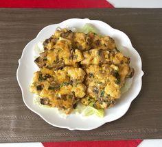 Kotleciki z kurczaka, pieczarek i sera - Blog z apetytem Mashed Potatoes, Cauliflower, Chicken, Meat, Vegetables, Ethnic Recipes, Blog, Whipped Potatoes, Cauliflowers