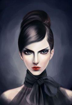 Black hair portraits (female) - black_eyes_by_leejun35-d4rwqt0.jpg - Minus