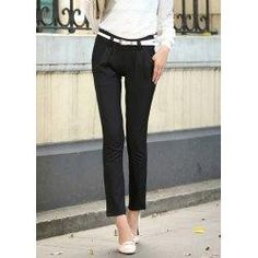 trendsgal.com - Trendsgal Laconic Style Pockets Candy Color Slimming Pencil Pants - AdoreWe.com