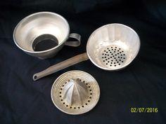 Vintage Aluminum Juice Squeezer Sieve Strainer Canning Funnel Kitchen Utensils | Collectibles, Kitchen & Home, Kitchenware | eBay!