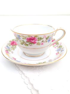 Vintage Wentworth China Montclair Pattern Teacup and Saucer