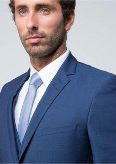 Costume slim bleu en laine 76 cobalt - costume homme 617418f7ebdc