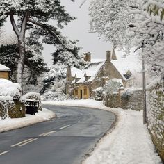 Campden in Snow by Andrew Lockie -- the Cotswolds area of England is picture-book pretty in any season