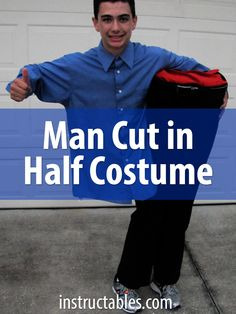 This is a contest winner and showstopper for sure. Such a fun costume for Halloween! Funny Guy Halloween Costumes, Halloween Costume Contest Winners, Teen Boy Costumes, Costumes For Teens, Family Costumes, Cool Costumes, Halloween Makeup, Halloween Ideas, Costume Ideas