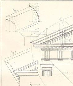 Facciate ordine dorico architettura disegno di CarambasVintage