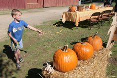 Pumpkin Ring Toss...Possible fall festival game?
