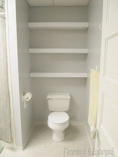 Building A Floating Shelf In Your Toilet Cove