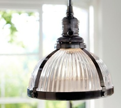 PB Classic Pendant - Ribbed Glass | Pottery Barn
