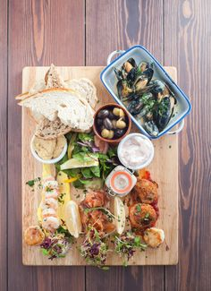 Seafood platter. Perfect for sharing! #seafood #restaurant #Plymouth #thedock #thedockplymouth #goodfood
