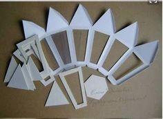 Resultado de imagem para moldes para faroles de papel