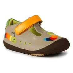 Momo Baby Toddler T-Strap Leather Shoes - Rainbow Caterpillar Tan (Size 4 - 6.5) Momo Baby. $25.00