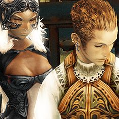 """ final fantasy meme: seven relationships ↳ [3/7] Balthier & Fran """