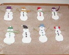 snowman glue craft