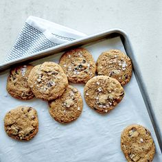 Crunchy-Chewy Salted Chocolate Chunk Cookies | MyRecipes They're wonderfully crisp around the edges and chewy in the middle; that soft center comes from using all brown sugar (no granulated) and a drizzle of honey.