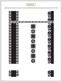 Romanian cross stitch pattern Folk Embroidery, Learn Embroidery, Ribbon Embroidery, Cross Stitch Embroidery, Embroidery Patterns, Cross Stitch Patterns, Circular Knitting Needles, Embroidery Techniques, Cross Stitching