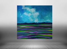Lavender Abstract landscape painting in by BryanAnthonyStudio