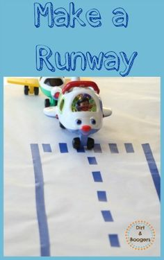A super simple way to make a reusable airplane runway for kids.