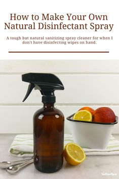 How to Make Your Own Natural Disinfectant Spray | Wellness Mama #disinfectantspray #naturaldisinfectantspray #naturalhome Diy Cleaners, Cleaners Homemade, Household Cleaners, Natural Disinfectant, Disinfectant Spray, Natural Cleaning Recipes, Natural Cleaning Products, Cleaning Hacks, Cleaning Supplies