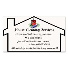 House Cleaning Services Business Card Template