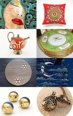 Oriental Style by Lika Ramati on Etsy--Pinned with TreasuryPin.com Oriental Style, Oriental Fashion, Decorative Plates, Shops, Etsy, Box, Home Decor, Tents, Snare Drum
