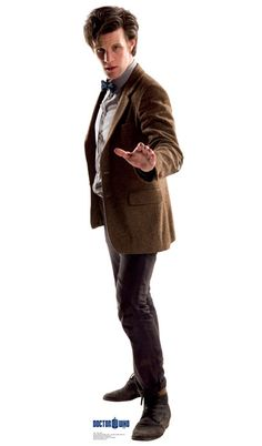 Doctor Who: Eleventh Doctor Profile Cardboard Standup This life-size cardboard cutout of The Eleventh Doctor from Doctor Who stands at a size of 21″ x 70″.