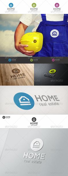 Home Real Estate Logo — Vector EPS #Simple House #home • Available here → https://graphicriver.net/item/home-real-estate-logo/6829026?ref=pxcr