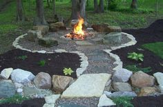 Backyard walk firepit