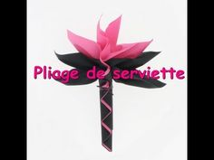 ▶ Tuto pliage de serviette palmier - YouTube