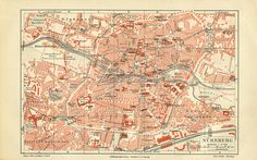 Inch Print - High quality prints (other products available) - Historical city map of Nuremberg, Bavaria, Germany, lithograph, published 1897 - Image supplied by Fine Art Storehouse - Photograph printed in the USA Fine Art Prints, Framed Prints, Canvas Prints, Framed Wall, Historical Maps, Bavaria Germany, City Maps, Antique Maps, Poster Size Prints