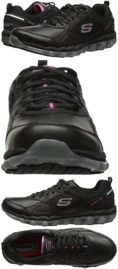 Occupational 53548: Skechers For Work Skech Air Slip Resistant Women Lace-Up, Black, 11 M Us -> BUY IT NOW ONLY: $61 on eBay!