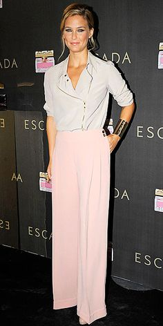 perfect color! sans jacket Bar Rafaeli- love the make up and the cuff to glam up this soft look