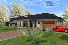 Overall Dimensions- x mBathrooms- 2 Car GarageArea- Square meters Dream Homes, My Dream Home, House Plans South Africa, Building Costs, Guest Toilet, My House Plans, Modern Style Homes, Guest Bed, Home Collections