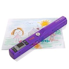 VuPoint Magic Wand II Portable Scanner with Color LCD Preview Screen - Purple