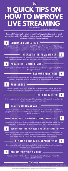 11 Quick Tips On How To Improve Live Streaming Infographic Twitch Streaming Setup, Game Streaming, Youtube Hacks, Youtube Gamer, Dipper Pines, Social Media Cheat Sheet, Twitch Channel, How To Get Better, Tarot Learning