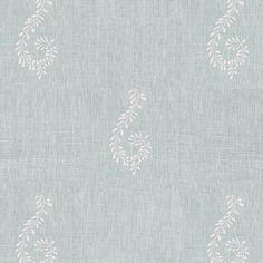 Fabric 327 Linen Shalini Duck Egg Blue L Susie Watson Designs