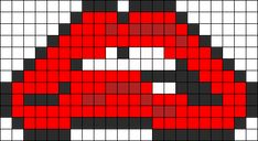 Rocky Horror Picture Show Lips Perler Perler Bead Pattern / Bead Sprite