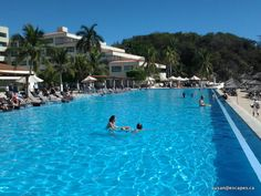 Dreams Huatulco, infinity pools all beach front. One is for kids, and 2 are adult only