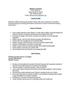 Resume Examples In Spanish