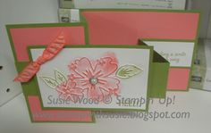 Here is a pretty fun fold card that everyone joining me for my June monthly classes got to make. Check it out! Isn't it cool! Z Cards, Step Cards, Fun Fold Cards, Folded Cards, Cool Cards, Stampin Up Cards, Easy Cards, Unique Cards, Creative Cards